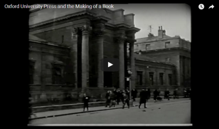 Oxford University Press and The Making of a Book