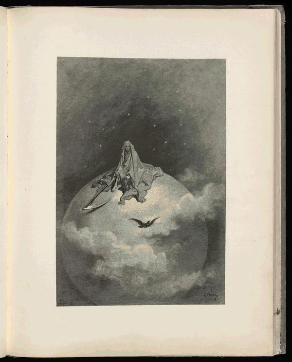 El cuervo de Edgar Allan Poe ilustrado por Gustave Doré