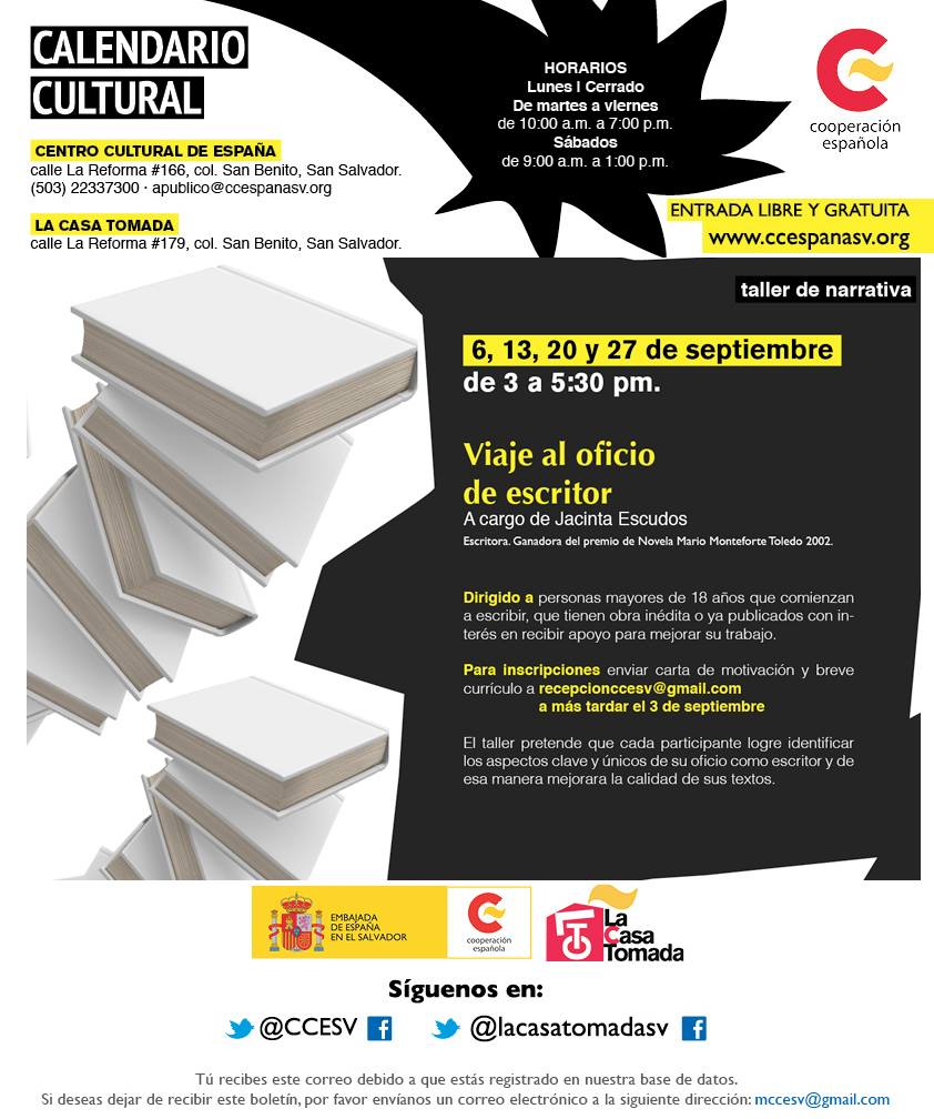 Taller septiembre CCE