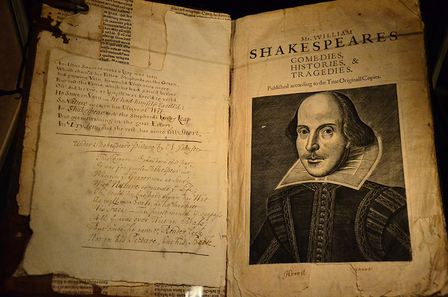 Pages of Shakespeare's First Folio by Ben Sutherland.