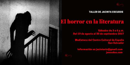 Convocatoria: El horror en la literatura (tallerliterario)