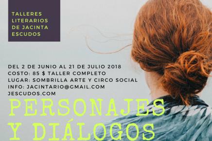 """Convocatoria al taller literario """"Personajes ydiálogos"""""""