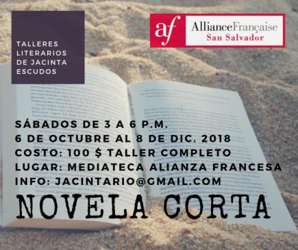 Convocatoria abierta: Taller de novela corta2018